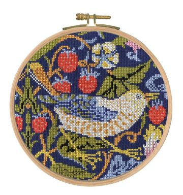 DMC William Morris - The Strawberry Thief Counted Cross Stitch Kit - BK1174